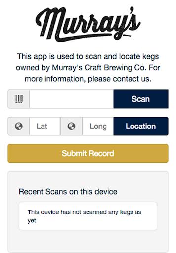 Murray's Keg Scanner