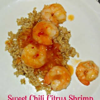Two Step Easy Sweet Citrus Chili Shrimp.