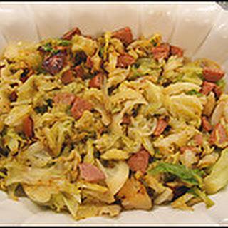 Sauteed Cabbage and Kielbasa.
