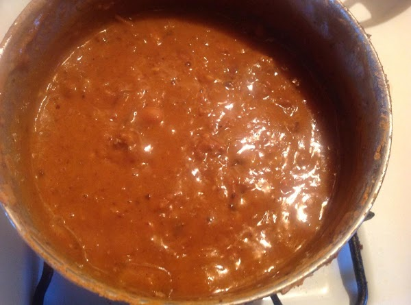 Cook beans on slow boil for 1 hr. Or so Adding water throughout process....