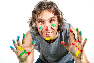 Photo: My colorful life :-) Snapped this quick portrait yesterday after we finished the shot. Two gallons of latex paint were spilled all around of the studio, it was such fun! The shot was a part of a project we are working on now, hope I'll be able to show you the outcome in a week or so. Stay tuned!