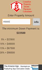 CDN Property Down Payment Calc screenshot 3