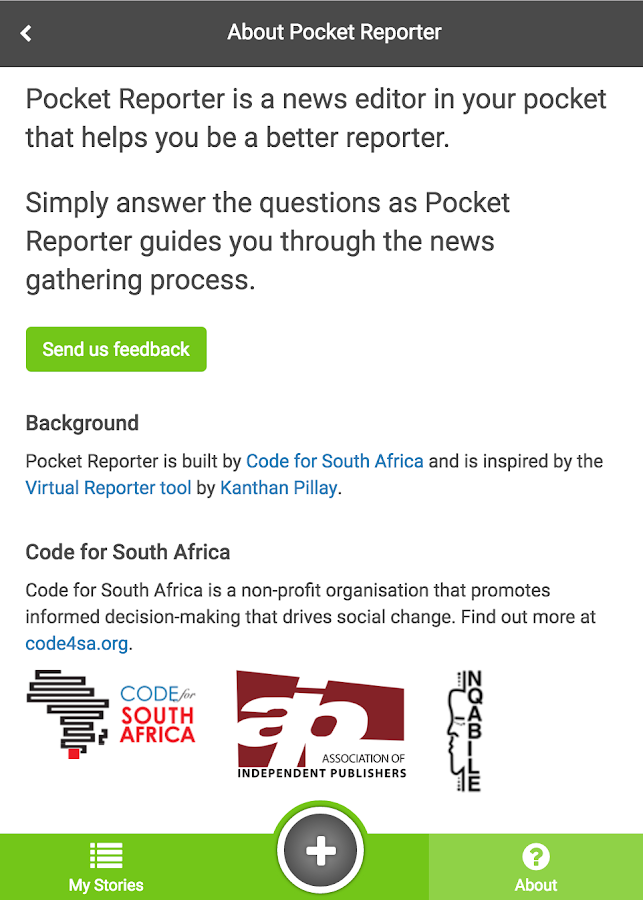 Pocket Reporter- screenshot