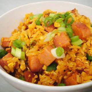 Sriracha and SPAM Fried Rice.