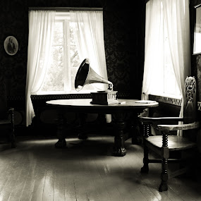by Ahmad Torabi - Artistic Objects Antiques ( interior, building, black and white, monotone )