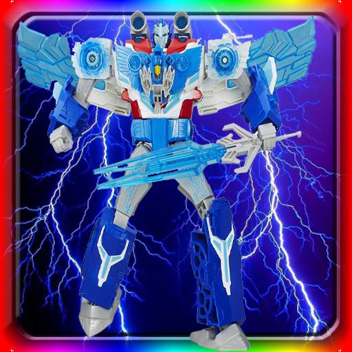 Puzzle Warrior Eagle Robot