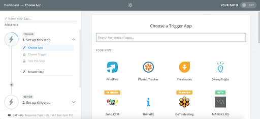 Drip and Zapier Integration Screenshot