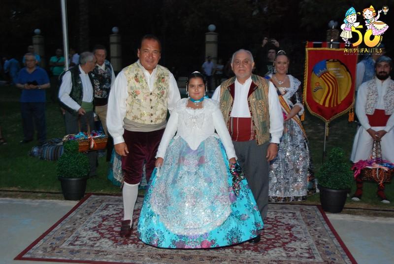 La Falla del Duc en el Homenaje a la Senyera de Camins al Grau