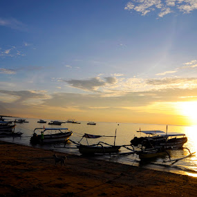 Bali Beach by Daniel Kong - Landscapes Beaches ( bali, sand, beaches, skyline, sunrise,  )