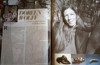 """Photo: Doreen Wolff im Magazin """"Disy Dresden"""" Winter 2013/14, Seite 150/151"""