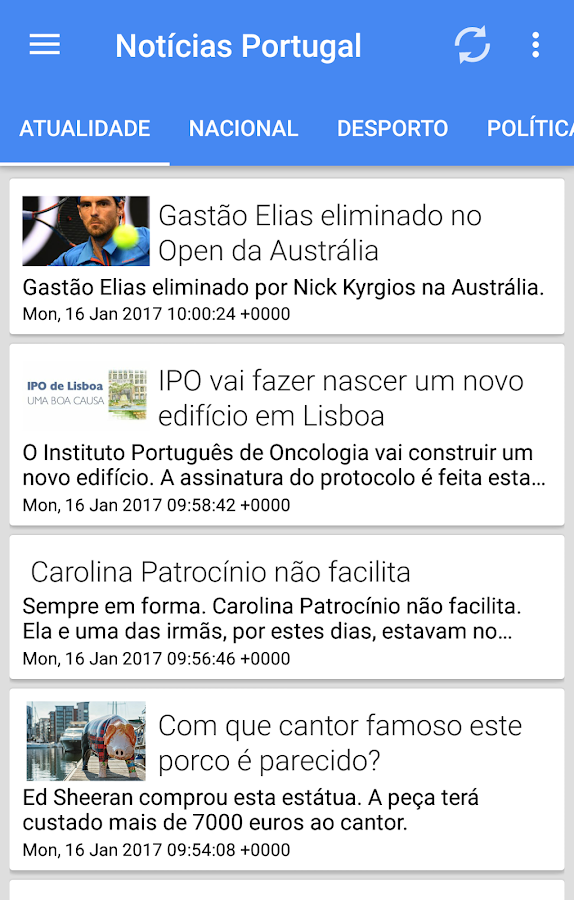 Not cias portugal android apps on google play for App noticias android