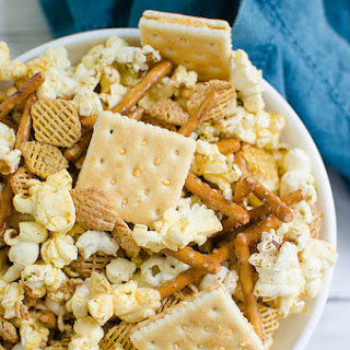 Dill Pickle Popcorn Mix.