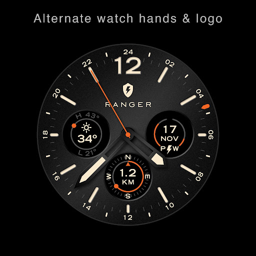 Screenshot for Ranger Military Watch Face in United States Play Store