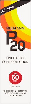 Riemann P20 Once A Day Sun Protection Spray - 100ml, SPF 50 High