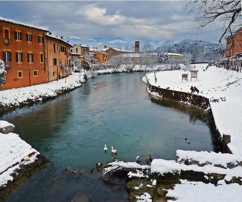 Inverno sul fiume di Justinawind