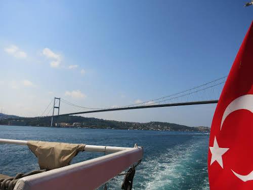 Enjoying our Bosphorus Cruise