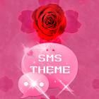 Theme rose pink cute GO SMS icon