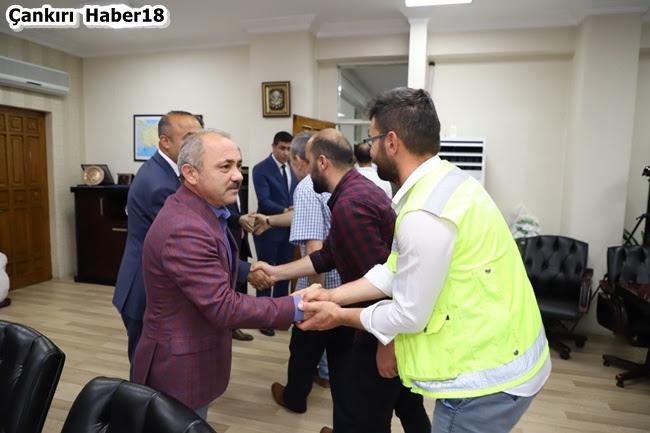 Çankırı Belediyesi, Çankırı Belediye Haberleri,Çankırı Belediye Başkanı,Başkan İsmail Hakkı Esen,Çankırı Belediyesinde Bayramlaşma,