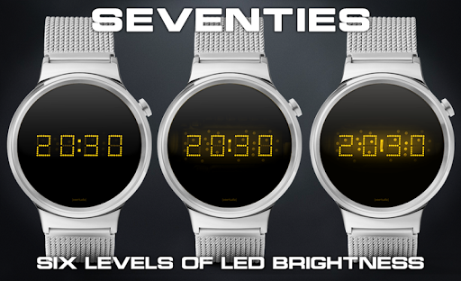 Download LED watch face | Vintage | Seventies Amber MOD APK 1