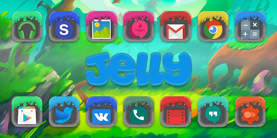android Jelly - Solo Theme Screenshot 0