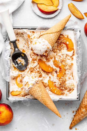 Peach Pie Ice Cream