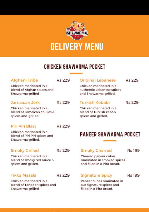 Yo Shawarma menu 2