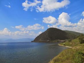 Photo: Берег Байкала. Кругобайкальская железная дорога