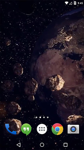 Asteroid Belt Earth Live WP