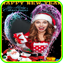 Christmas New Year 2018 Photo Frame icon