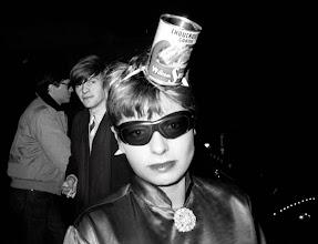 """Photo: Paquita Paquin à la soirée """"Choucroute"""" des  B-52's au Privilège, 1980."""