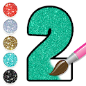 Glitter Number Coloring and Drawing Book icon