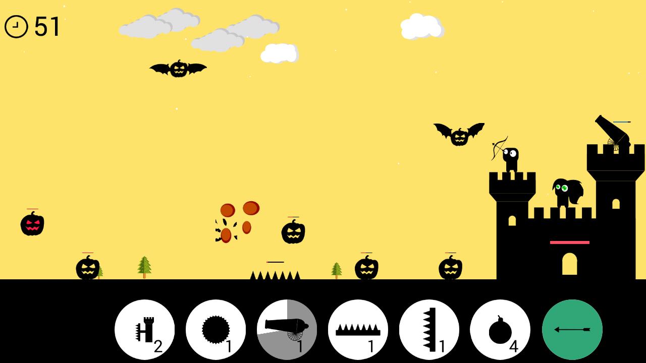 Pumpkin Attack– captură de ecran