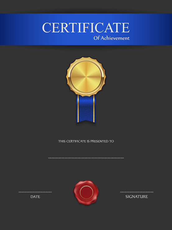 Blue Black Certificate Template hTaE6SDZhdivgGubSNYU