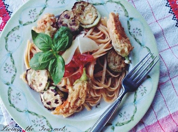 Lemon Fresh Spaghetti With Garden Sauce & Pumpkin Recipe