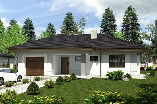 projekt Radek III z garażem 1-st. A