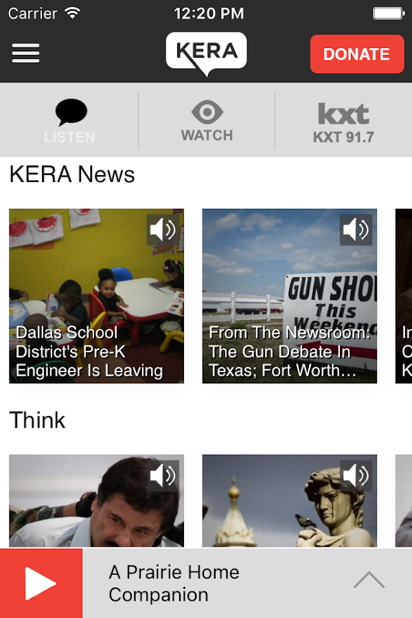 KERA Public Media App- screenshot