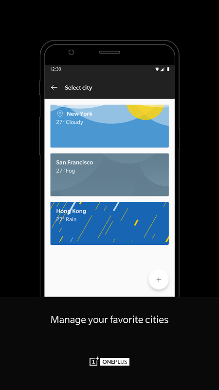 OnePlus Weather screenshots