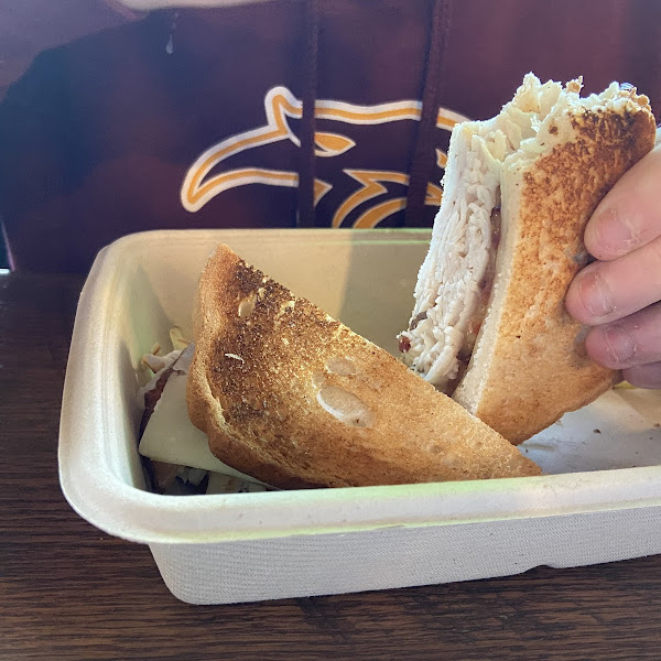 Freshly toasted gf bread and sandwich! Delicious!
