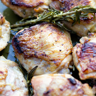 Pan Roasted Lemon Garlic Chicken