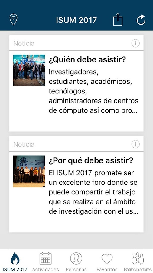 ISUM 2017- screenshot