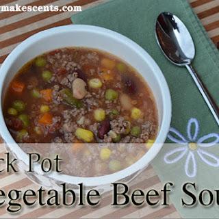 Crock Pot Vegetable Beef Soup.