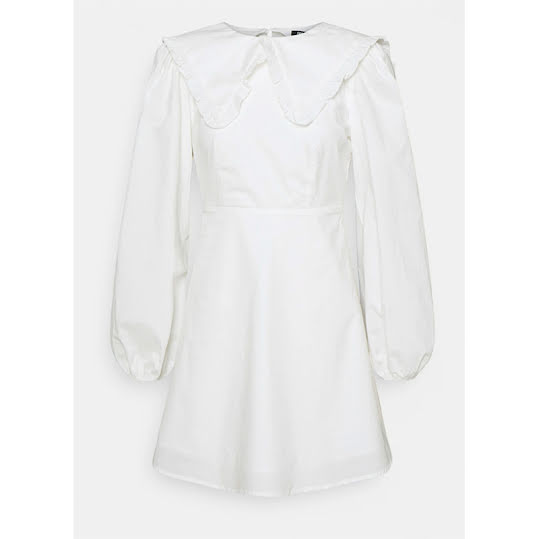 Fashion Union mini smock dress with square neck white