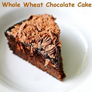 WHOLE WHEAT EGGLESS CHOCOLATE CAKE Recipe