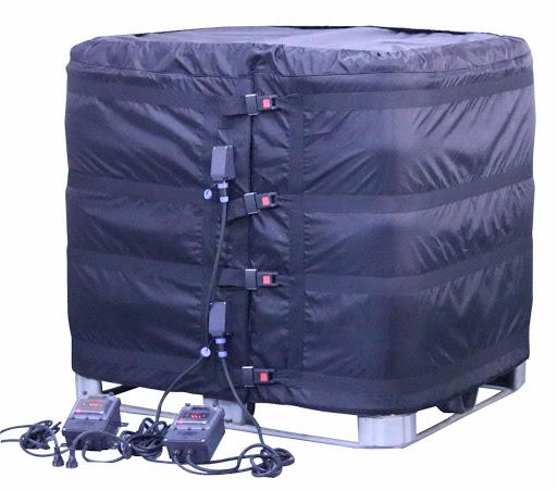 Réchauffe IBC 1000 litres avec son couvercle isolant thermique