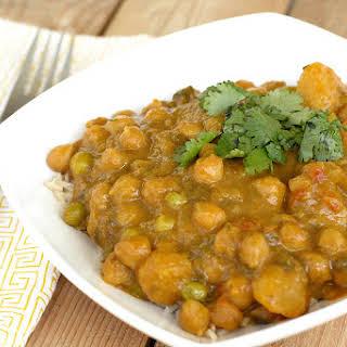 Butternut Squash & Chickpea Coconut Curry (Crock Pot Recipe).