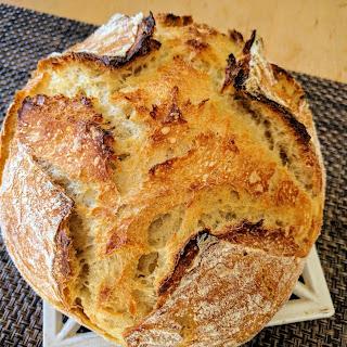 Super Easy No-Knead Sourdough Bread Recipe