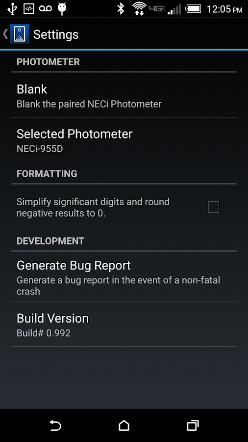NECi Photometer- screenshot