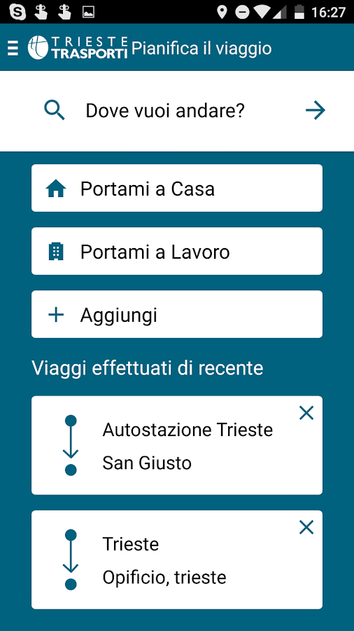 Trieste Trasporti- screenshot
