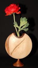 Photo: plataan + mahonie h 18 cm b 14 cm met glas verkocht