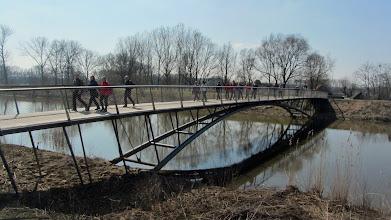 Photo: De nieuwe voetgangersbrug (fietsersbrug) aan het Zennegat.